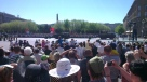 Crowds at the military parade